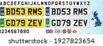 united kingdom car license...   Shutterstock .eps vector #1927823654