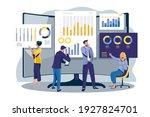 data analysis concept. people... | Shutterstock .eps vector #1927824701