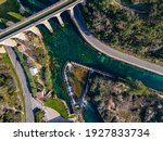 Aerial View Of Aqueduct For The ...