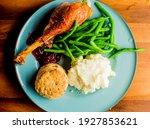 Turkey Dinner. Turkey Served...