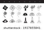 Anzac Day Designs Icon Set....