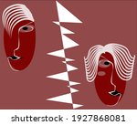 a quarrelled couple. abstract... | Shutterstock .eps vector #1927868081
