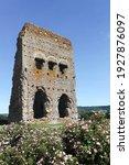 Small photo of Janus roman temple in Autun, Burgundy, France