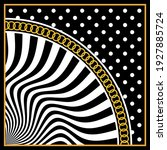 Abstract  Polka Dot  Wavy Line...
