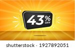43  off. yellow banner with... | Shutterstock .eps vector #1927892051