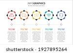 vector infographic design with... | Shutterstock .eps vector #1927895264