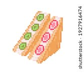 pixel art sweet sandwich icon.... | Shutterstock .eps vector #1927916474
