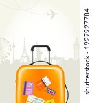 travel agency poster with...   Shutterstock .eps vector #1927927784