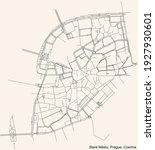 black simple detailed street... | Shutterstock .eps vector #1927930601