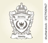 coat of arms template with... | Shutterstock .eps vector #1927930967
