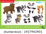 find and mark two identical... | Shutterstock .eps vector #1927942901