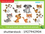 find and mark two identical... | Shutterstock .eps vector #1927942904