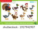 find and mark two identical... | Shutterstock .eps vector #1927942907