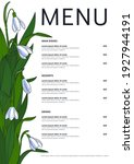 seasonal menu template with... | Shutterstock .eps vector #1927944191