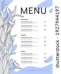 seasonal menu template with... | Shutterstock .eps vector #1927944197