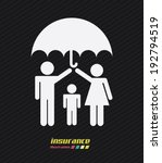 family design over black... | Shutterstock .eps vector #192794519