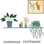 illustration of home plants on... | Shutterstock .eps vector #1927946024