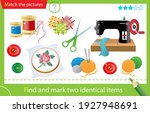 find and mark two identical... | Shutterstock .eps vector #1927948691