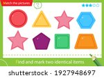 find and mark two identical... | Shutterstock .eps vector #1927948697