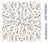 spring doodle hand drawn flower ... | Shutterstock .eps vector #1927949387