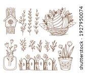 easter hand drawn vector... | Shutterstock .eps vector #1927950074