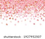 rose gold tinsels confetti... | Shutterstock .eps vector #1927952507