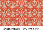 ikat geometric folklore... | Shutterstock .eps vector #1927955444