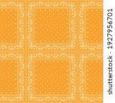 bandana print. vector seamless... | Shutterstock .eps vector #1927956701