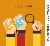 seo design over orange... | Shutterstock .eps vector #192796091