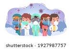 doctors  nurses men  women... | Shutterstock .eps vector #1927987757