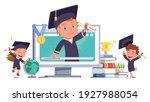 happy girl  boy kids... | Shutterstock .eps vector #1927988054