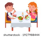 healthy and unhealthy food diet.... | Shutterstock .eps vector #1927988444