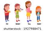 fat  skinny  tall  short girls... | Shutterstock .eps vector #1927988471