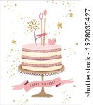 happy birthday greeting card  a ...   Shutterstock .eps vector #1928035427