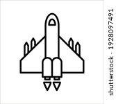vector icon rocket flying on... | Shutterstock .eps vector #1928097491