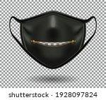protective black comical mask... | Shutterstock .eps vector #1928097824