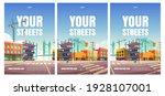 your street cartoon posters... | Shutterstock .eps vector #1928107001
