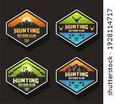 pastel color hunting logo design | Shutterstock .eps vector #1928114717