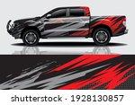 car wrap graphic racing... | Shutterstock .eps vector #1928130857