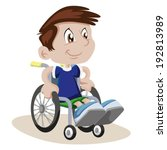 boy in a wheelchair    Shutterstock .eps vector #192813989
