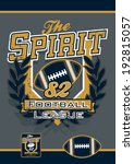 the spirit football sports... | Shutterstock . vector #192815057