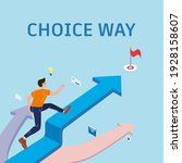 choice way young man chooses...   Shutterstock .eps vector #1928158607