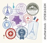 Travel Stamps Set   France And...