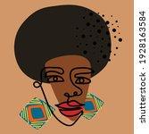 abstract portrait of african... | Shutterstock .eps vector #1928163584