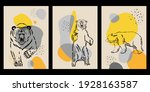 graphic images of bears on an... | Shutterstock .eps vector #1928163587