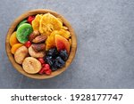 Dried Fruits And Berries On A...