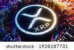 digital art currency xrp logo... | Shutterstock . vector #1928187731