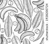 hand drawn sketch style banana... | Shutterstock .eps vector #1928200724
