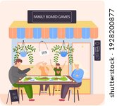 family board games shop  awning ...   Shutterstock .eps vector #1928200877