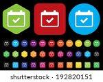 calendar icon | Shutterstock .eps vector #192820151